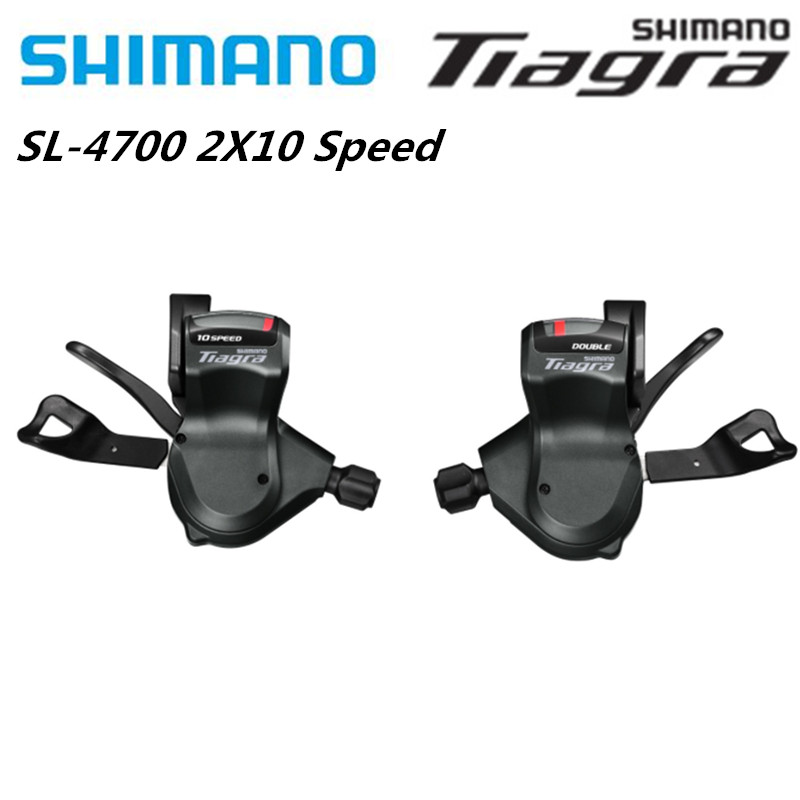 SHIMANO Tiagra SL 4700 <font><b>2x10</b></font> Speed Shift Lever One Pair Left And Right SL 4700 Shift Lever Derailleurs <font><b>2x10</b></font> Speed image
