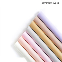10pcs Solid Color Flower Wrapping Paper 60*60cm Waterproof Flowers Shop Wedding Layout Gift Materia Wholesale
