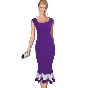 Image 3 - נחמד לנצח בציר טלאים אלגנטיים בת ים vestidos המפלגה עסקי Bodycon נשים שמלת B221