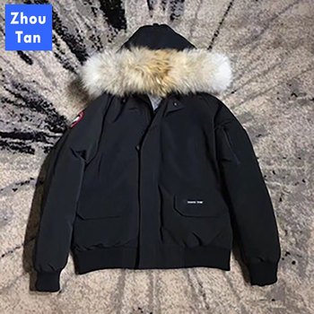 winter children 80% white duck down jacket boys girls warm real fur collar hooded snow coat parka kids thick outerwear coat e249 New brand winter jacket men 90% white duck Down Coats thick keep warm men down jacket fur collar hooded down jackets coat male