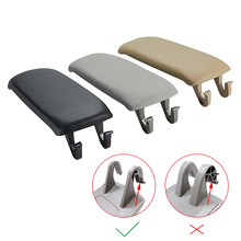 1 Pcs Leather Car Armrest Latch Cover For Audi A6 C5 1998 2005 Center Console Arm Rest Storage Box Lid Cover Auto Accessories