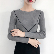 Fashion Womens Sweaters Long Sleeve Autumn Winter Tops Sweater Pullover Jumper Knitted Sweater 2020 Pull Femme Slim Soft Tops korean autumn new feminine knitted sweater fashion lace up sweater woman tops long sleeve shein pullover knitted tops 10i