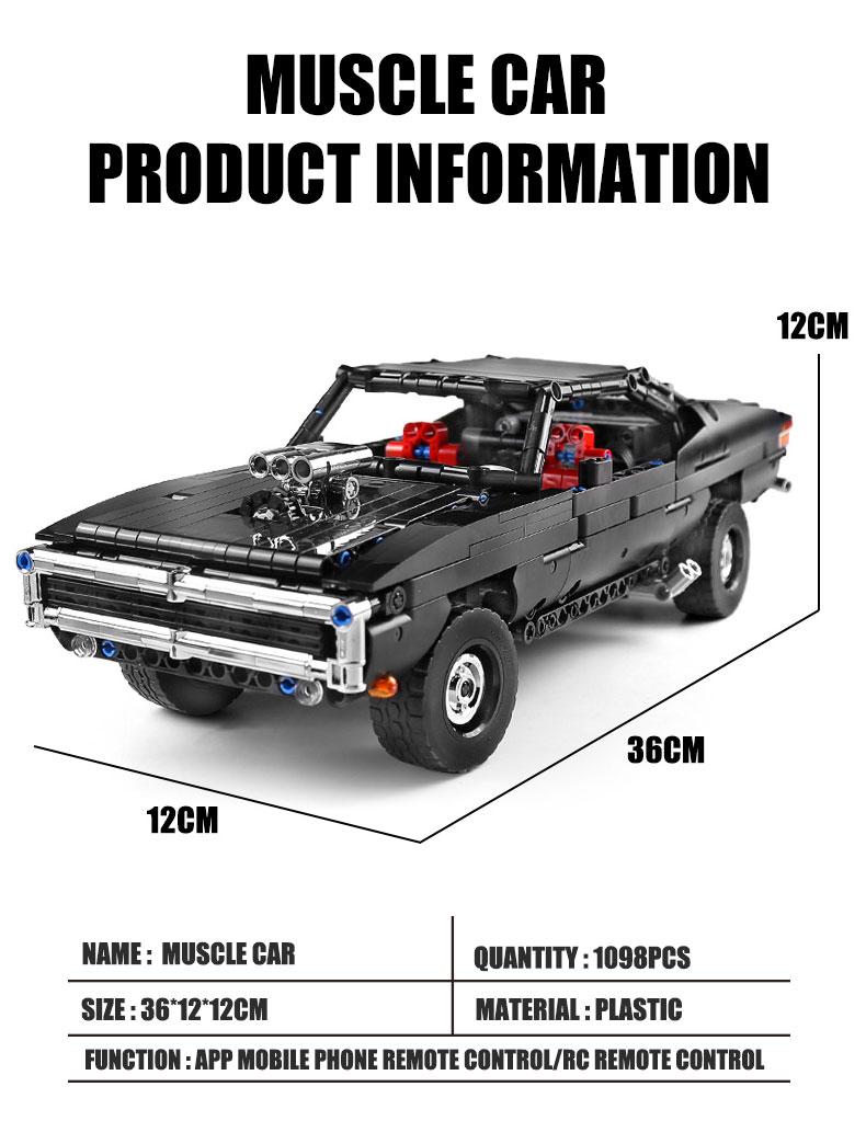 MOULD KING 13081 MOC 17750 Technic Ultimate Muscle Car Building Block (1098PCS) 12