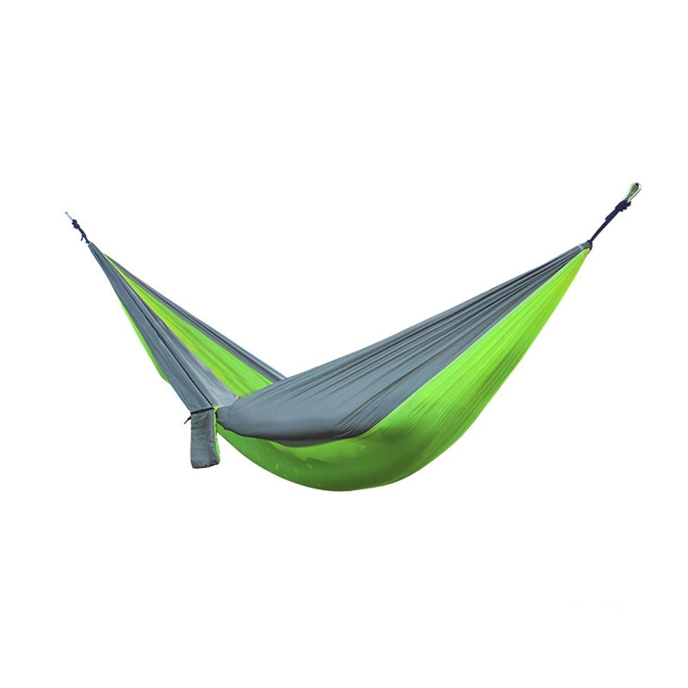Nylon Double Person Hammock Adult Camping Outdoor Backpacking Travel Survival Hunting Sleeping Bed Sleeping Swing