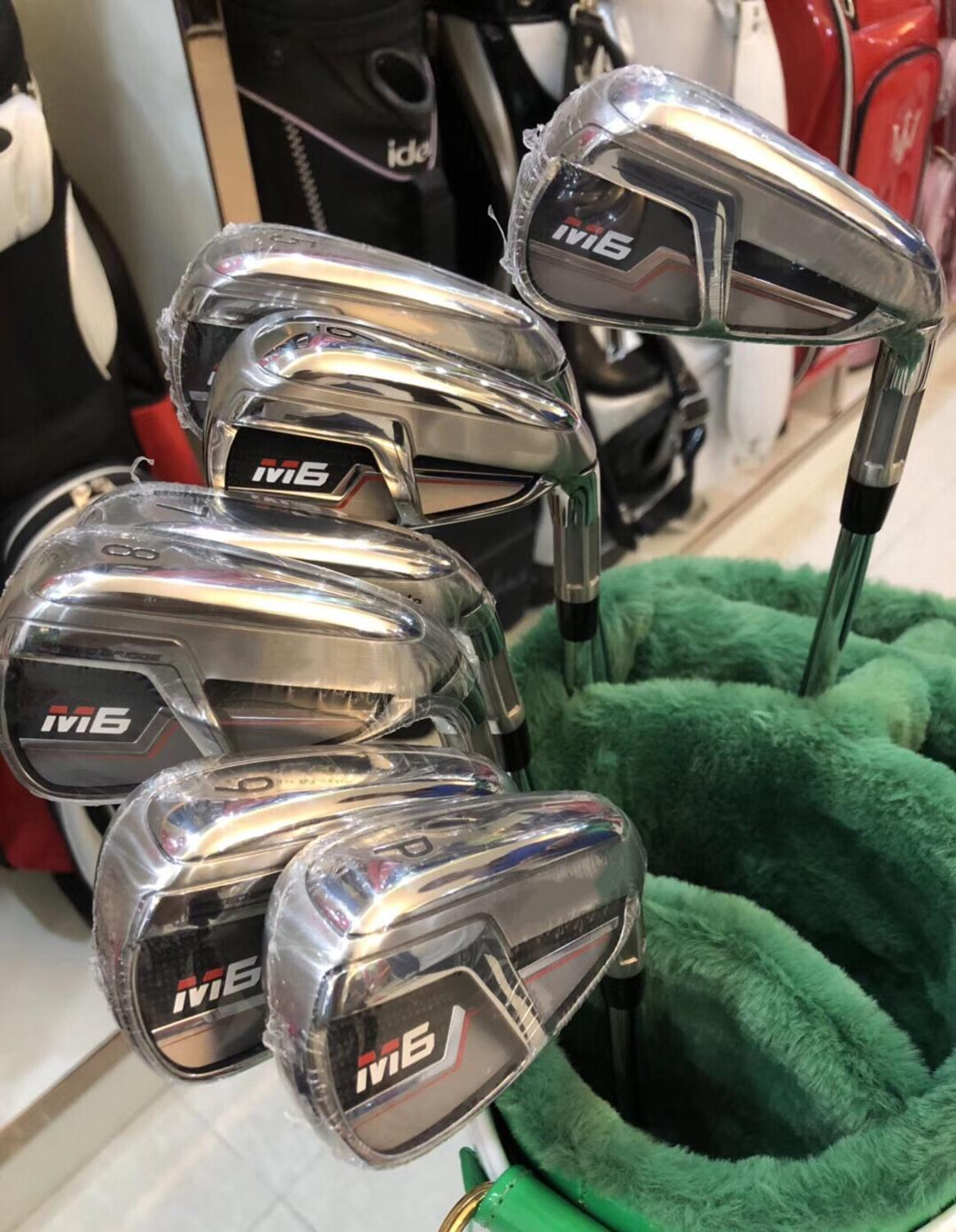 Brand New M6 Iron Set M6 Golf Irons M6 Golf Clubs 456789PS(8PCS) R/S Flex Steel/Graphite Shaft With Head Cover M6 Golf Irons