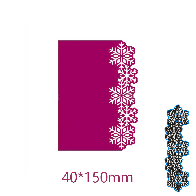 New Arrival Flower Edge Frame Cutting Dies Stencil DIY Scrapbooking Photo Album Embossing Decor Paper Card Craft 40*150mm