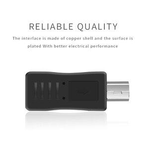 Image 3 - 5 adet mikro USB dişi Mini USB erkek adaptör konnektör dönüştürücü adaptör için son PC telefon kılıfı kabloları