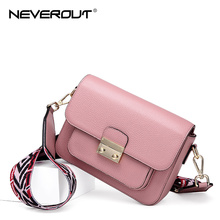 NEVEROUT 3 Color Neverful Bag Women Stylish Small Crossbody Shoulder Bag Cowhide Leather Handbag Purse with Guitar Style Strap jobon stylish oil lighter with leather strap red
