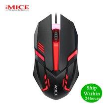 IMICE M6 professionnel filaire souris de jeu filaire USB optique LED souris de jeu ergonomique 1000DPI pour PC ordinateur portable souris Gamer