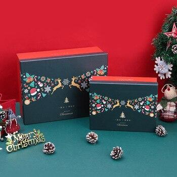 новый год 2020 christmas decorations for home scarf gloves High grade gift box package elk paper box Коробка для подарков 1pcs