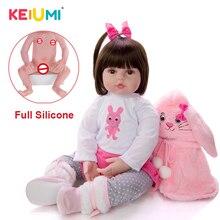 KEIUMI, реалистичный вид, как кролик, Реборн, для малышей, милые Реборн, детские куклы, полный силиконовый винил, Menina, куклы для новорожденных, для детей, Playmates, обучающая игрушка