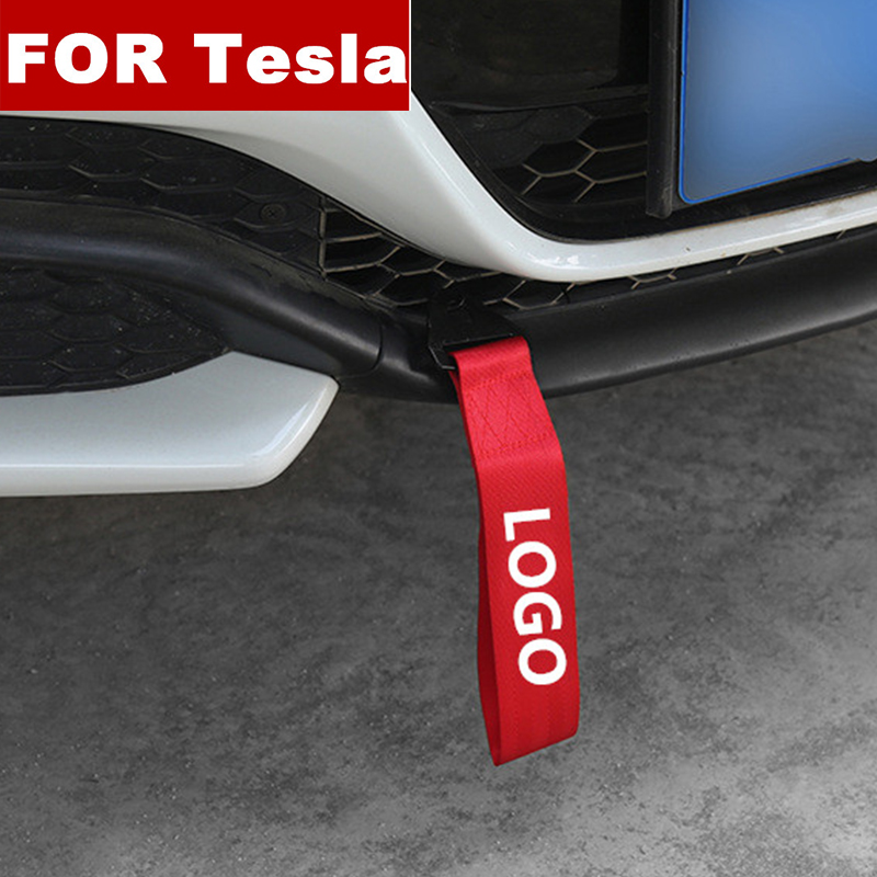 Модный новый автомобиль-Стайлинг тяжелый буксировочный трос автомобильный буксировочный ремень бампер прицеп веревка для Tesla модель S