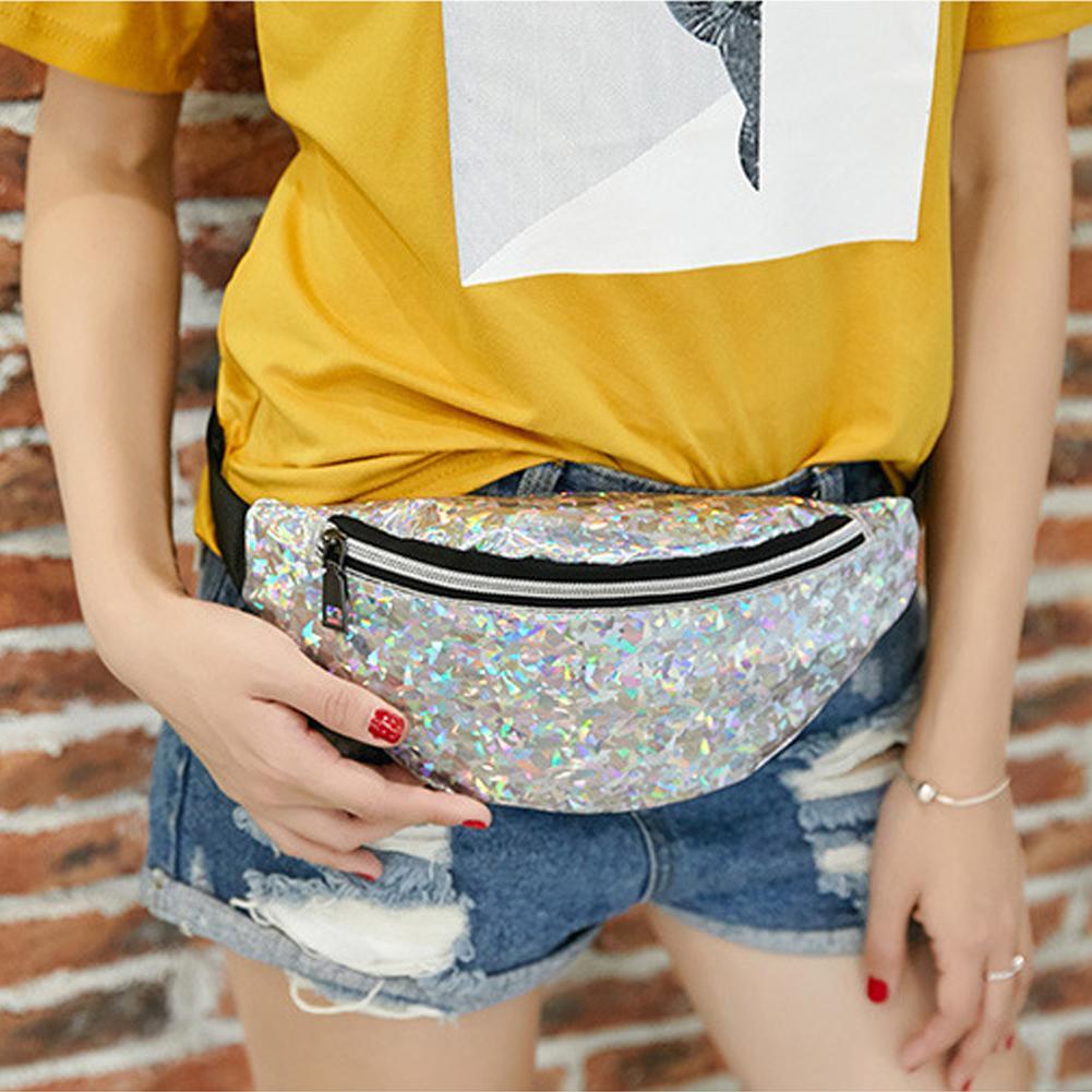 2020 Fashion Sequin Shiny Women Girl Crossbody Shoulder Pouch Chest Bag Waist Pack