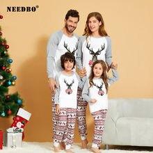 Рождественские пижамы для всей семьи 2020 комплект взрослых