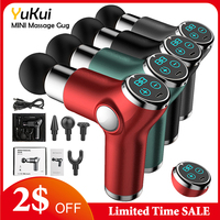Pistolet do masażu mięśni Mini kieszeń 32 prędkości wibracji elektryczny masażer szyi pleców pistolet do masażu ciała głęboko ulgę w bólu