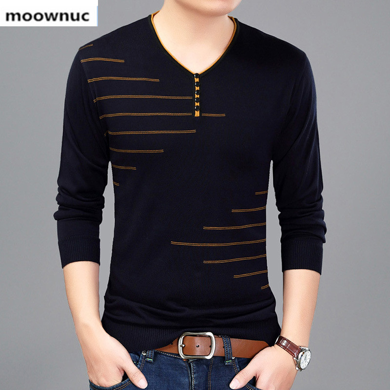 2019 Autumn Brand Cotton Men's Pullover Slim Keep Warm Sweaters Casual Fashion Cableknit Knitted Sweater For Men