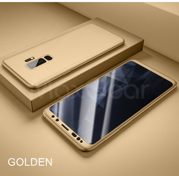360 Full Cover Protective Case+Glass For Samsung Galaxy S20 Ultra S8 S10 S9 Plus Note 10 S 7 A50 A70 A71 A51 A40 S6 S7 Edge A 70 - For NOTE 9, Golden