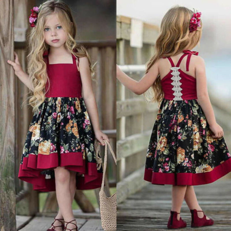 Toddler Baby Kids Girl Princess Summer Casual Dress Sundress Clothes