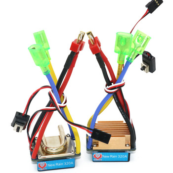 цена на RC ESC,320A Brushed ESC Speed Controller Dual Mode Regulator band brake 5V 3A for 1/10 RC Car/RC Boat