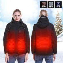 Новая мотоциклетная обувь куртка Для мужчин женские осень-зима USB Инфракрасный нагревательный кожух Moto ветрозащитная куртка Термальность мотоциклетная куртка с капюшоном