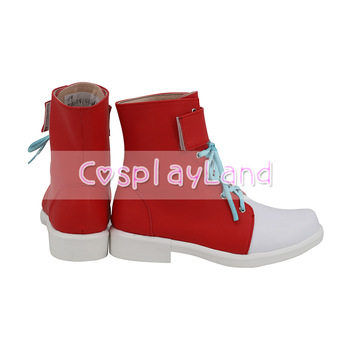 JoJo's Bizarre Adventure Ghiaccio Cosplay Boots Shoes Red Men Shoes Costume Customized Accessories Halloween Party Shoes 2