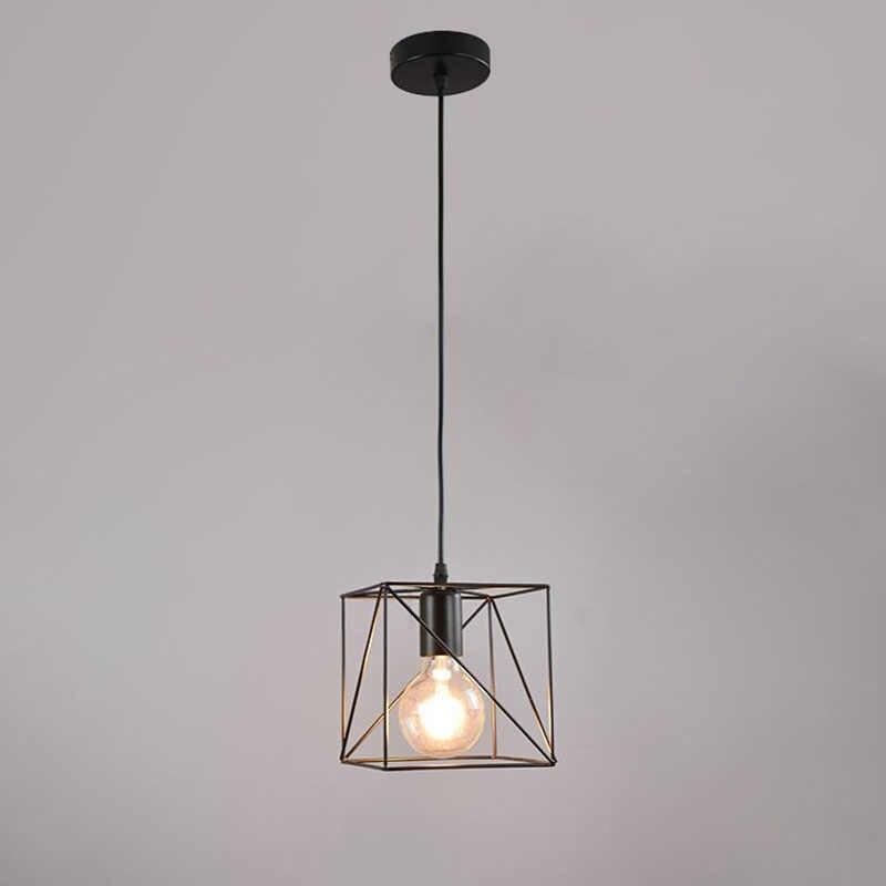 Винтажный светильник, ретро железная клетка, промышленный проволочный каркас, подвесной светильник, лофт, потолочный абажур для дома, гостиной, украшение, Подвесная лампа