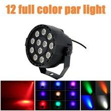 O Novo LED Plana Par 12x3W RGBW Iluminação Profissional LEVOU Efeito Luzes Do Palco DMX512 Mestre-Escravo disco Party DJ