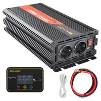 2000/4000W Inverter Converter Charger Inversor Transformer Modified Sine Wave Inverter 12V dc to 220V 230V ac LCD Display Car RV