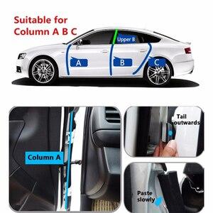 Image 4 - 4 metros z tipo tira de vedação da porta do carro isolamento acústico transparente tira de vedação preta alta qualidade auto vedação fita porta selo