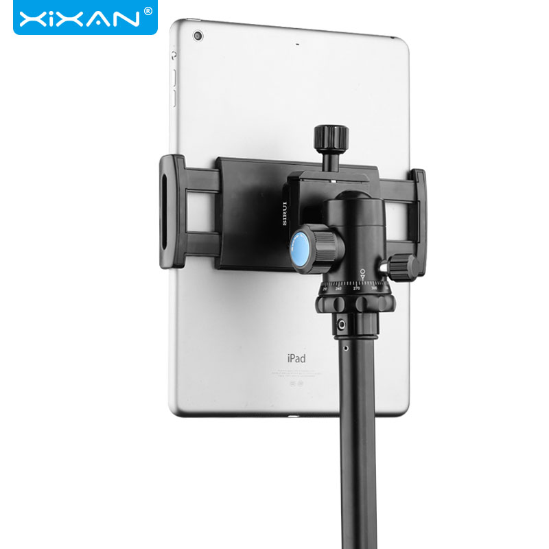 Universal Tablet Phone Clip 13in Bedside Tripod Mount Clamp Holder Bracket Clip For Ipad Phone Clamp With Spherical Gimbal Clips