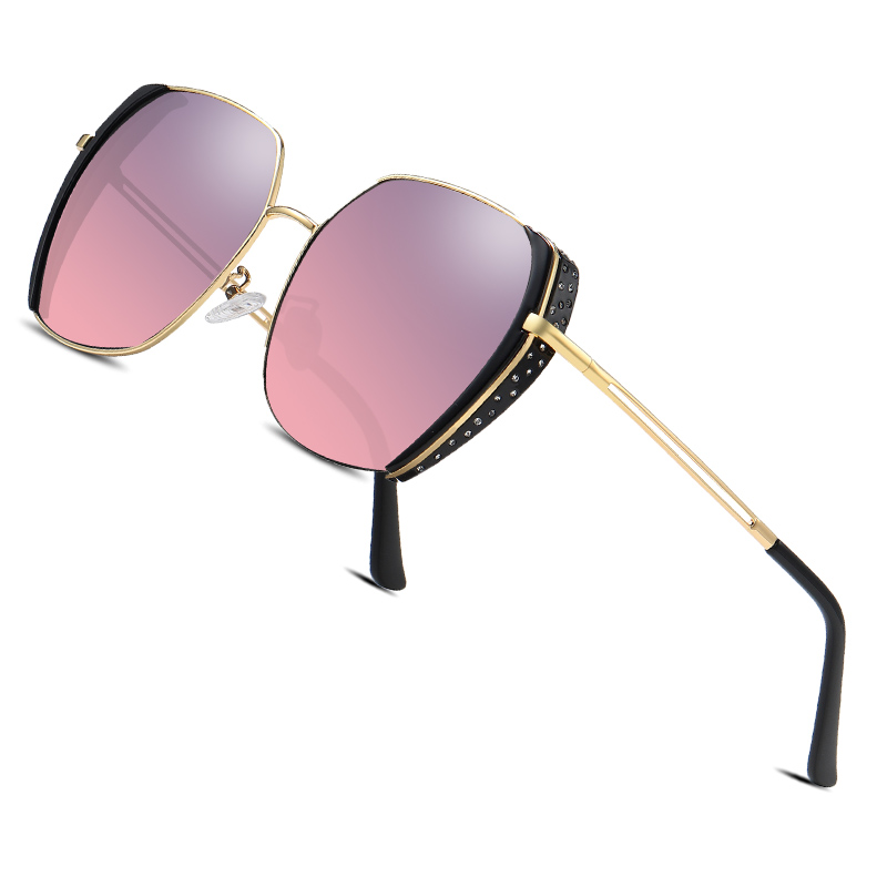 AOFLY BRAND Polarized Women Sun Glasses Gradient Lens Luxury Female Designer Oversized Square Sunglasses For Ladies Goggle UV400