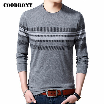 COODRONY Brand T Shirt Men Clothes 2020 Autumn New Arrival Long Sleeve T-Shirt Men Top Quality O-Neck Tee Shirt Homme Tops C5043 mardi gras princess new orleans nola bouron street party costume womens t shirt short sleeve o neck t shirt homme top tee