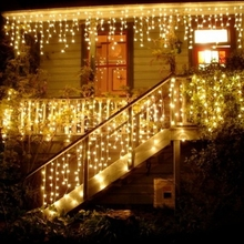 Christmas-Light Led Curtain Mall Garden Outdoor Waterproof 5M Droop Eaves