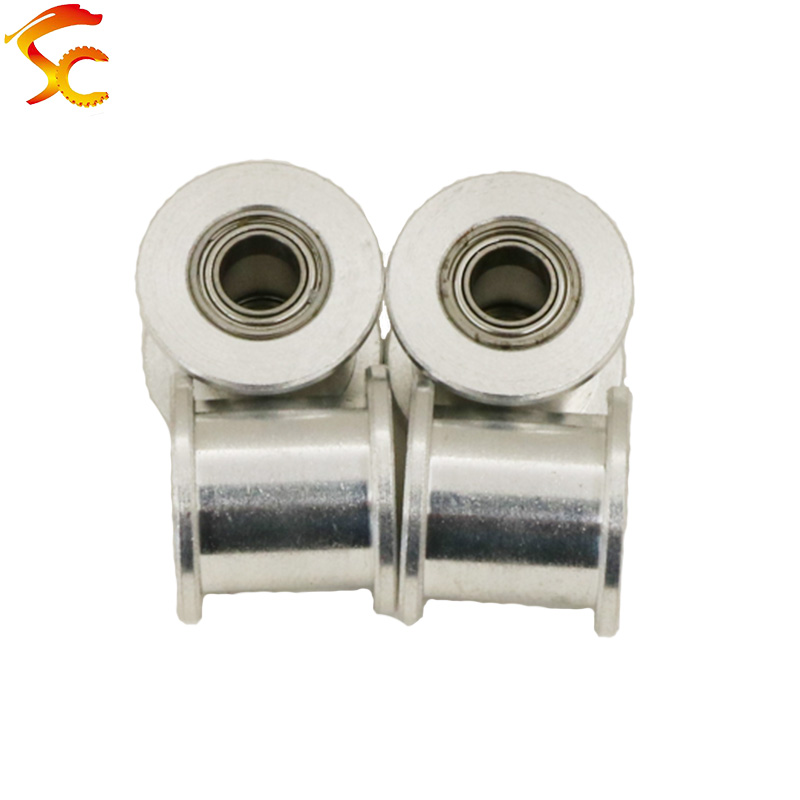 12PCS/LOT 3D printer Idle pulley timing Gear Bore 4mm/5mm for GT2 belt width 9MM/10MM without teeth(wheel)