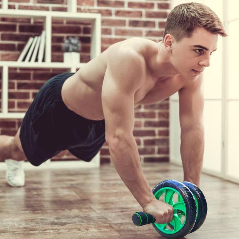 Hot Sale Double Wheels Abdominal Roller Wear-resistant Wheel Abdominal Wheel Roller Fitness Exercise Equipment For Home Gym