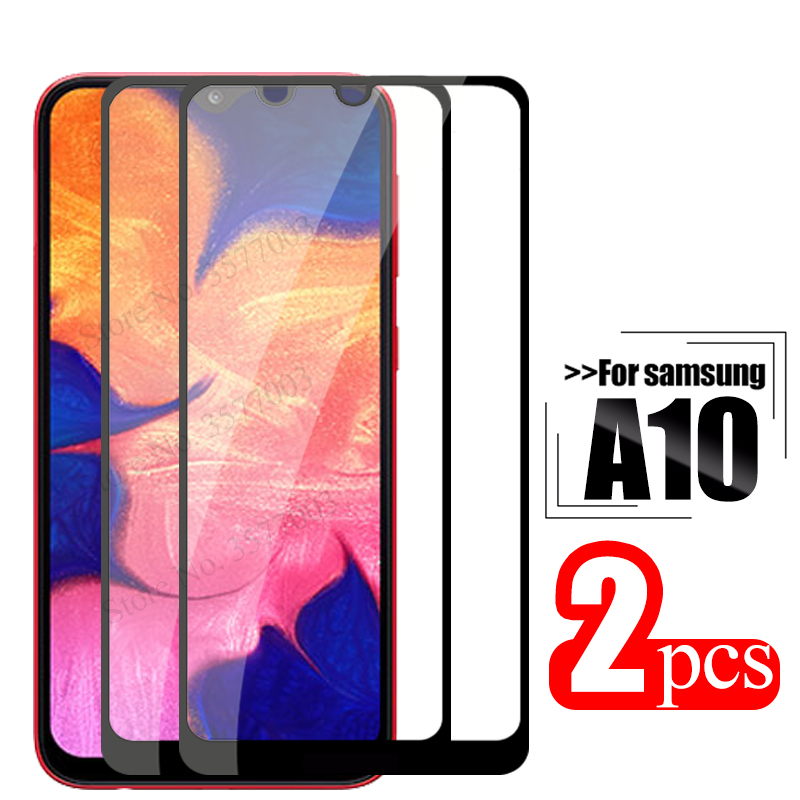2pcs tempered glass For samsung galaxy a10 protective glass on the sumsung samsun a 10 10a a105 a105F sm-105F screen protector