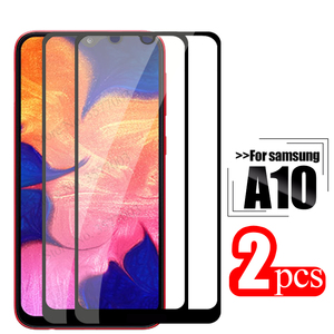 Image 1 - 2pcs tempered glass For samsung galaxy a10 protective glass on the sumsung samsun a 10 10a a105 a105F sm 105F screen protector