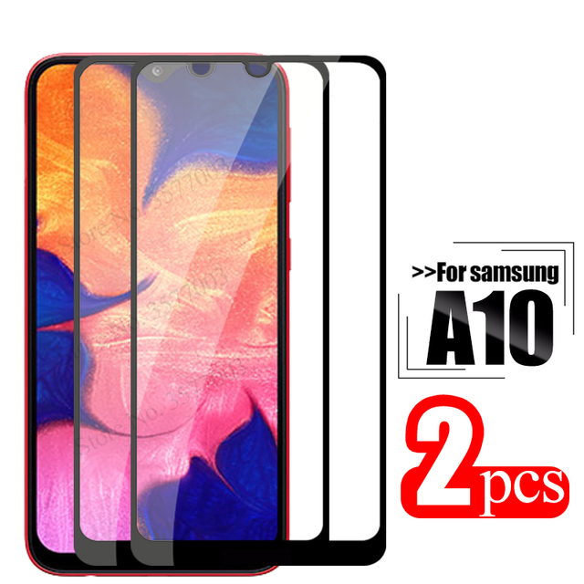 2pcs tempered glass For samsung galaxy a10 protective glass on the sumsung samsun a 10 10a a105 a105F sm 105F screen protector