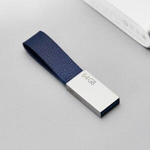 Image 2 - 정품 xiao mi mi u 디스크 64 gb usb 3.0 고속 trans mi ssion 소형 끈 디자인 youpin에서 휴대용 mi ni 금속 몸