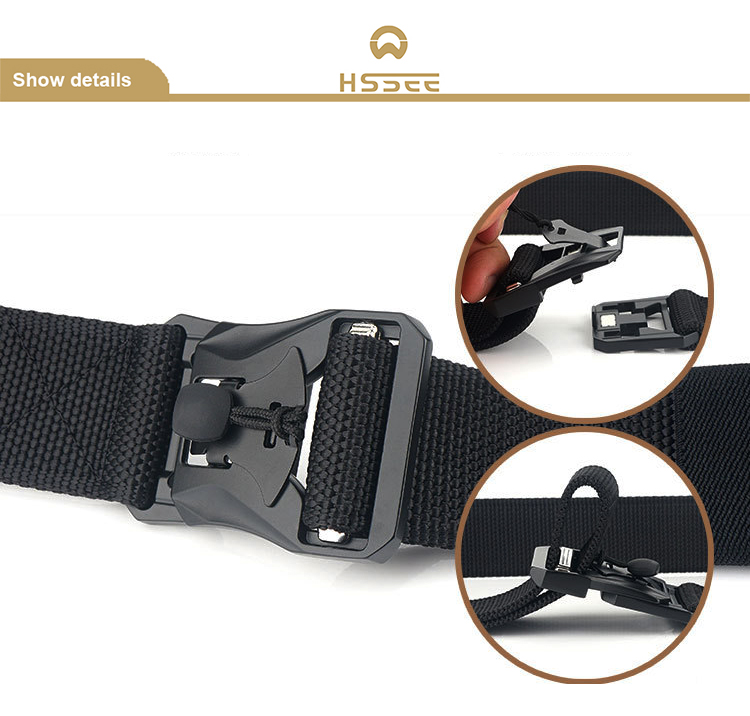 Hea8e226ea29a4173a1c81d5794f1072cc - HSSEE New Mens Tactical Belt Hard Metal Quick Release Magnetic Buckle Mens Military Nylon Belt 3mm Soft Real Nylon Sports Belt