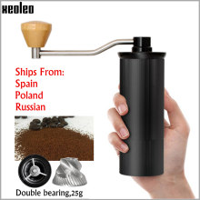 Xeoleo 50mm alumínio manual moedor de café aço inoxidável rebarba moedor cónico cafeteira miller manual máquina trituração de café