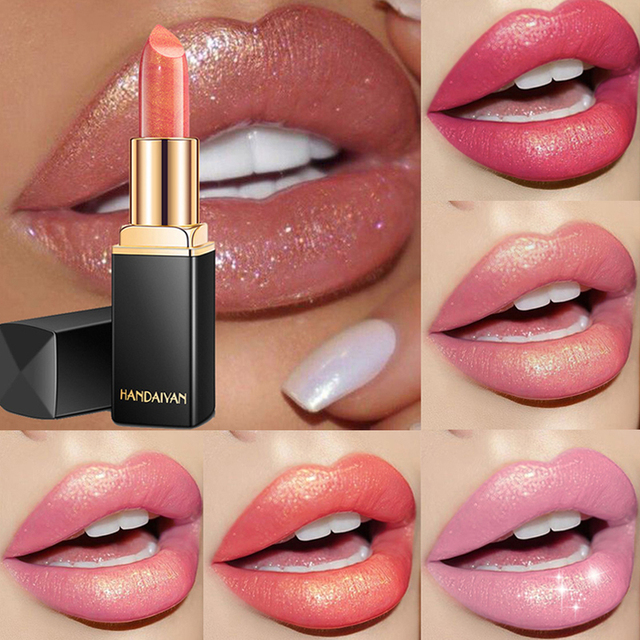 9 Colors Luxury Lipstick Lips Makeup Waterproof Shimmer Long Lasting Pigment Nude Pink Mermaid Shimmer Lipsticks Makeup