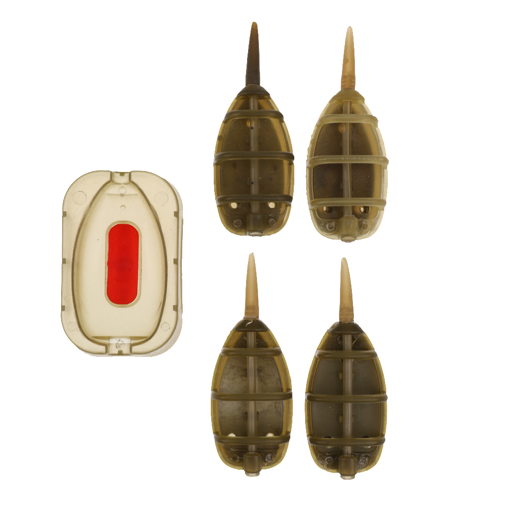 4Pcs In-line Method Feeder Lead Sinker Quick Release Molds Terminal Carp Fishing Feeder Tackle 20g 25g 30g 35g image
