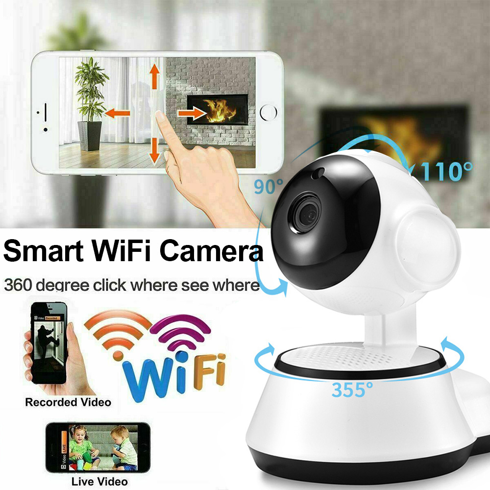 US $18.99 30% OFF|Wireless Smart Camera 720P HD Home WiFi IP Security Baby Monitor Two way audio Anti theft monitor 355° Night vision Camera