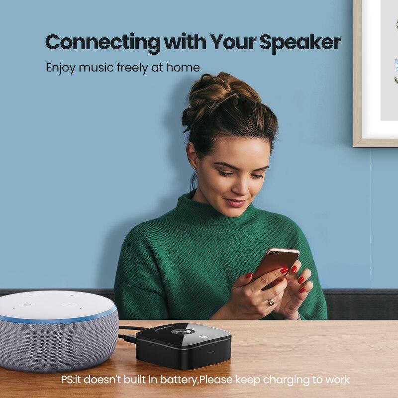Ugreen Bluetooth RCA Receiver 5.0 aptX LL 3.5mm Jack Aux Wireless Adapter Music for TV Car RCA Bluetooth 5.0 3.5 Audio Receiver