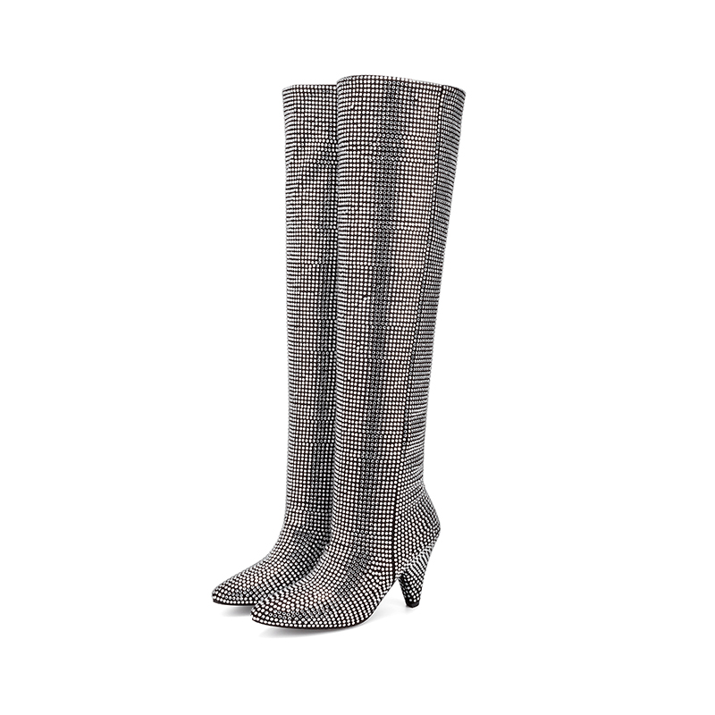 Fashion Women's Over the knee Boots 2020 Autumn New Super High Heels Long Boot Women Casual Rhinestone Overknee Shoes Woman