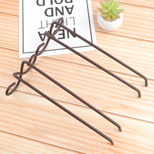 2 Rows Bronze Stainless Steel Wall-Mounted Wine Glass Hanger For Bar Home
