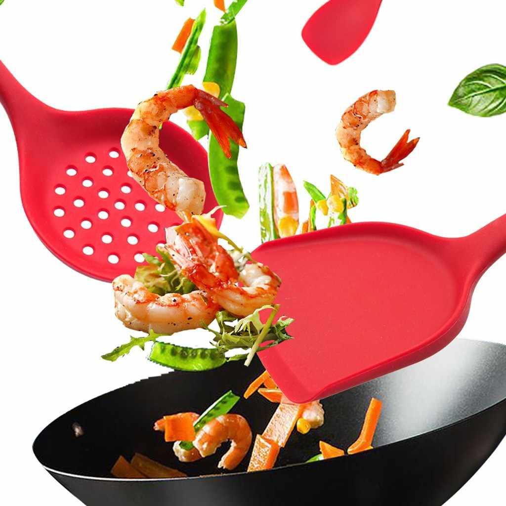 4 sztuk silikonowe naczynia do gotowania zestaw non-stick łopatka łopata drewniany uchwyt narzędzia kuchenne zestaw z pudełko do przechowywania narzędzia kuchenne