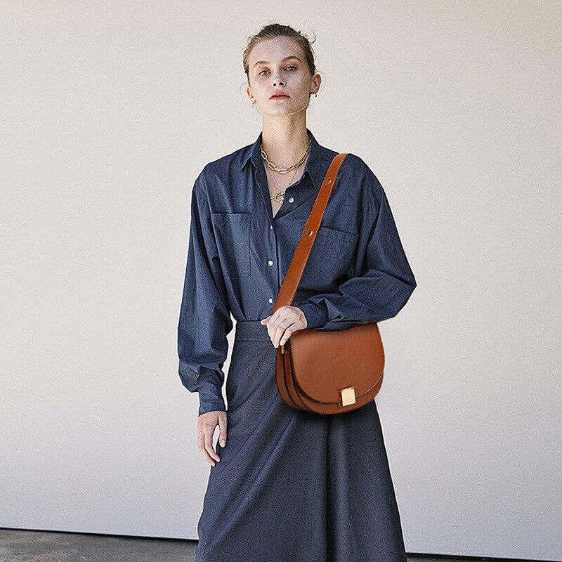 Mododiino Vintage Crossbody Bags For Women 2019  Female Small Saddle Bag Leather Shoulder Bag Luxury Women Bag Designer DNV1057