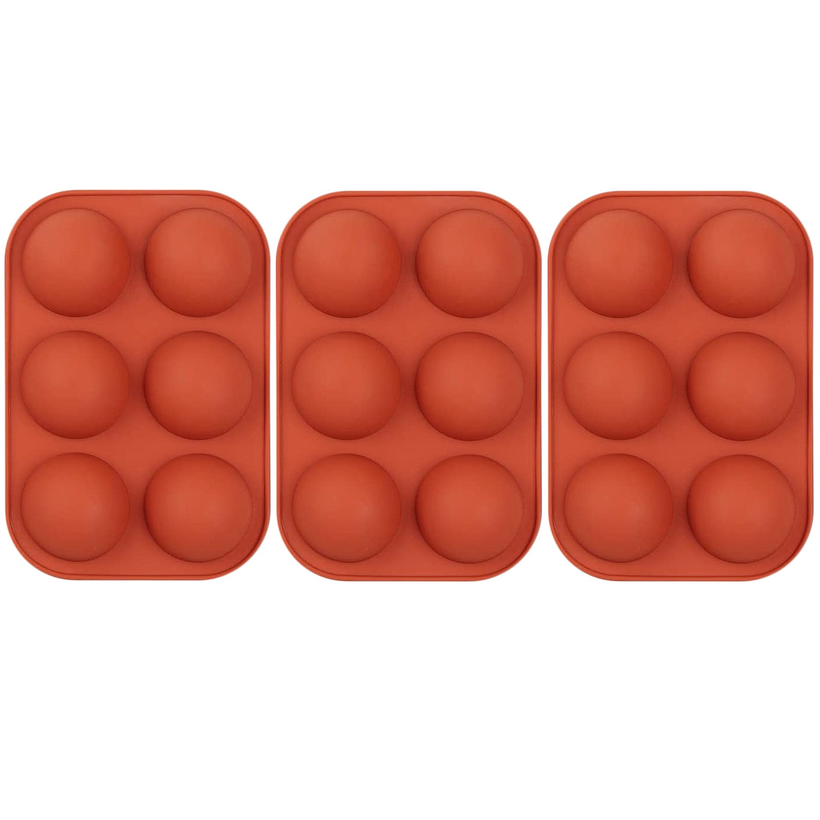 Полусферическая силиконовая форма, 3 упаковки, форма для выпечки для изготовления шоколада, торта, желе, Купола, форма для кастрюль, инструме...